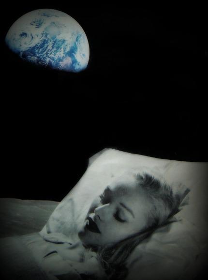 moon sleep collage